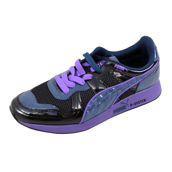 Shop Puma Men s RS100 Opulence Black Denim-Purple Size 9 - Free ... 59dcfd0af0e7