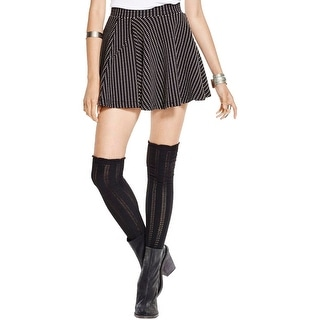 Free People Womens Flippy Floppy Flare Skirt Textured Pattern