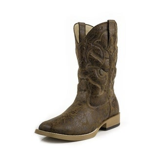Roper Western Boots Mens Vintage Square Tan 09-020-1900-0065 TA
