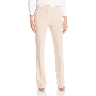 Calvin Klein NEW Pink Women's Size 10X32 Flare-Leg Solid Dress Pants