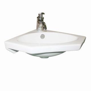 White Modern Corner Sink Wall Mount Bathroom Renovator's Supply