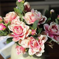 "G Home Collection Rustic Silk Gardenia Stem in Pink 25"" Tall (Set of 2)"