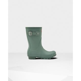 Hunter Women's Green Original Short Rain Boots