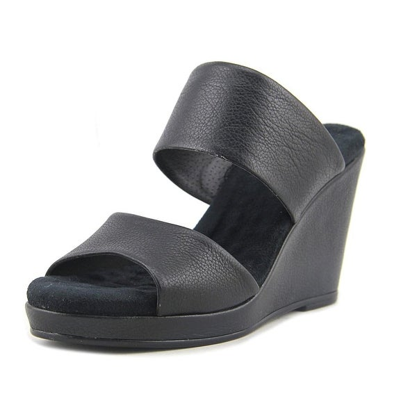 Elites by Walking Cradles Katie Women Open Toe Synthetic Black Wedge Sandal