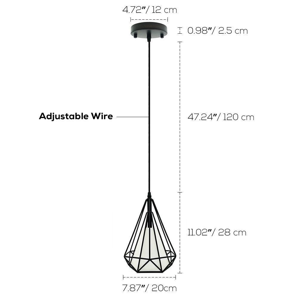 Shop Industrial retro loft pendant,black ceiling pendant light,cage hanging  lamp - On Sale - Overstock - 22538852Overstock.com