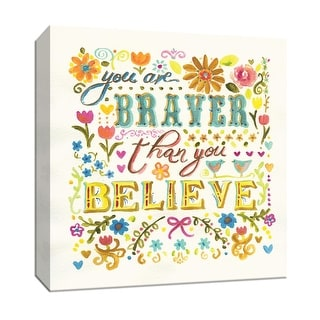 """PTM Images 9-147132  PTM Canvas Collection 12"""" x 12"""" - """"You Are Braver Than You Believe"""" Giclee Sayings & Quotes Art Print on"""