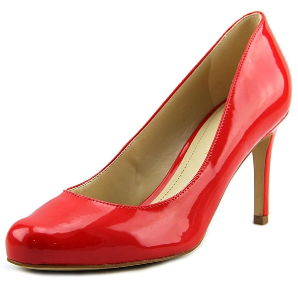 Marc Fisher Universe Women  Round Toe Leather Red Heels
