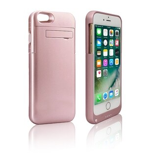 Indigi® Simple Rose Gold Rechargeable iPhone 7 Plus External Battery Case - High Capacity 4000mAh