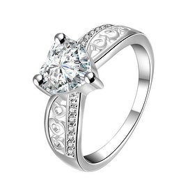 Heart Shaped Classic Stone Classic Ring