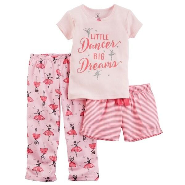 466fba75e134 Shop Carter s Baby Girls  3-Piece Jersey PJs