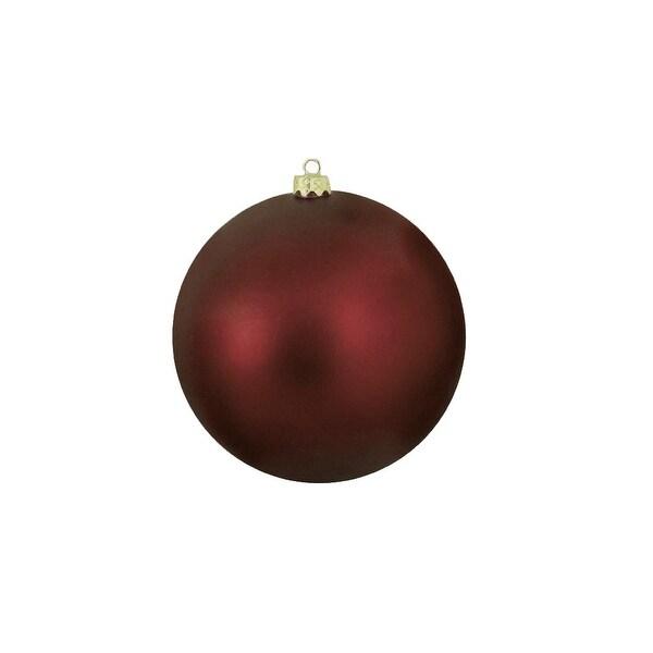 "Matte Burgundy Red Shatterproof Christmas Ball Ornament 8"" (200mm)"