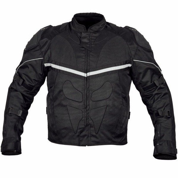 Men Motorcycle Cordura Polyester Waterproof Windproof Jacket Black MBJ067