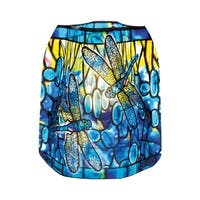 Modgy Expandable Tiffany Style Dragonfly Luminaries with LED Candles - Set of 4 - Blue - 6 in. x 6.5 in.
