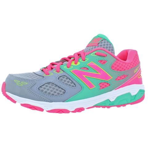 New Balance Girls 680v3 Running Shoes Athletc Performance - Grey/Green/Pink/Yellow