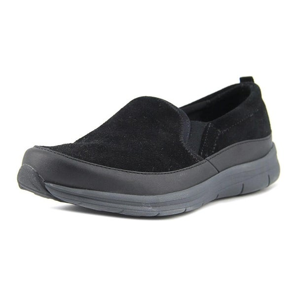 Easy Spirit EZ Time Women Round Toe Suede Black Walking Shoe