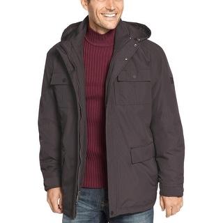 Hawke & Co. New York Mens 3-in-1 Water Repellent Jacket Black Hoodie XX-Large