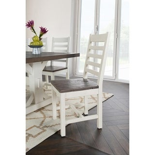 The Gray Barn Hive Coop Reclaimed Pine Two-tone Dining Chair