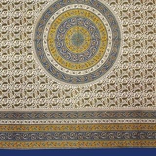 Handmade 100% Cotton Paisley Mandala Tapestry Tablecloth Bedspread Throw 64x90 Twin