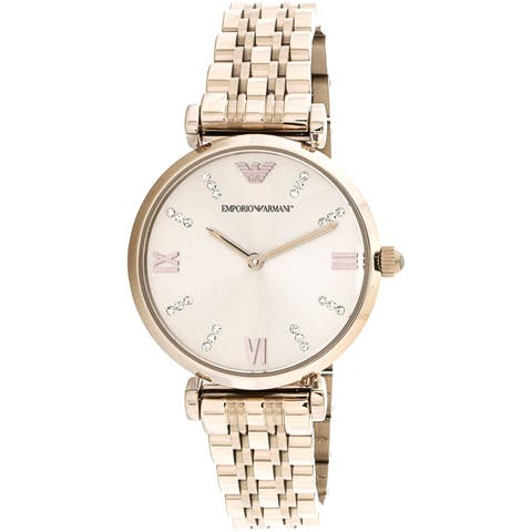 Emporio Armani Women's Rose-Gold Stainless-Steel Fashion Watch