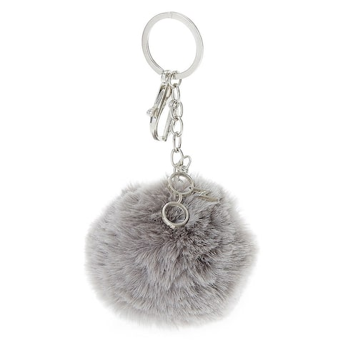 Harry Potter Puff Pom Keychain with Eyeglasses Charm