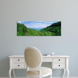 Easy Art Prints Panoramic Image 'Trees on mountains, Great Smoky Mountains National Park, Tennessee, USA' Canvas Art