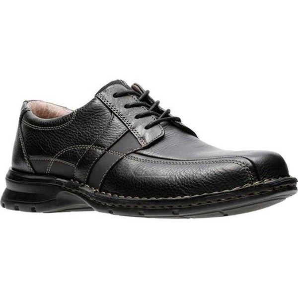 bb1bbf639c2a0 Shop Clarks Men's Espace Oxford Black Oily Leather - On Sale - Free ...