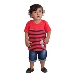 Pulla Bulla Baby Boy Striped Tee Short Sleeve Shirt