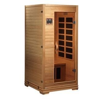 GDI Studio 1 to 2 Person Far Infrared Carbon Natural Wood Sauna / GDI-6109-01