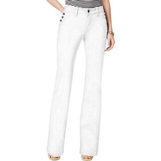 Jag Jeans Womens Farrah Wide Leg Jeans Mid-Rise Solid Wash