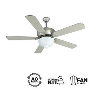 "Craftmade K10518 Leeward 52"" 5 Blade Indoor Ceiling Fan - Blades and Light Kit Included"