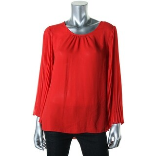 Vince Camuto Womens Petites Blouse Chiffon Bell Sleeves