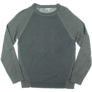 Calvin Klein Jeans Mens Textured Long Sleeves Pullover Sweater