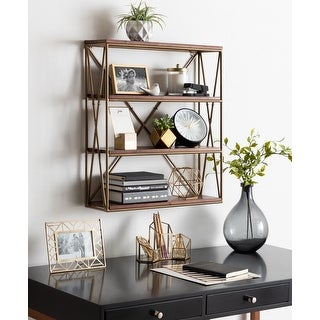 Link to Kate and Laurel Ascencio 4-Layer Wood and Metal Wall Shelves Similar Items in Accent Pieces