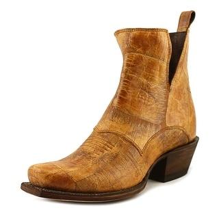 Nocona Dakota Bootie Women Square Toe Leather Tan Bootie
