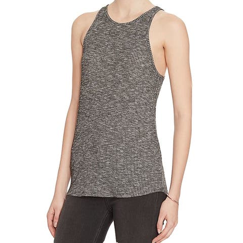 Rag and Bone Gray Ribbed Tank L