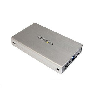 Startech 3.5-Inch Usb 3.0 External Sata Iii Ssd/Hdd Hard Drive Enclosure With Uasp - Silver Aluminum (S3510smu33)