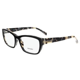 Prada PR 18OV ROK1O1 Top Black/White Havana Rectangle Optical Frames - top black/white havana - 54-18-135