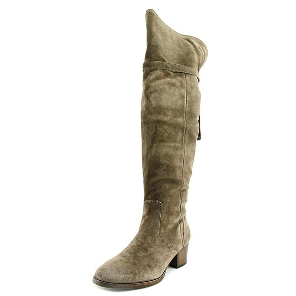 Frye Clara Tassel Over the Knee Women Round Toe Suede Gray Over the Knee Boot