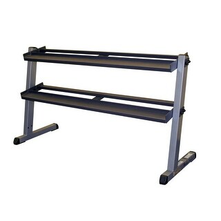 Body-Solid 2 Tier Horizontal Dumbell Rack - Black