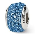 Sterling Silver Reflections September Full Swarovski Elements Bead (4mm Diameter Hole) - Thumbnail 0