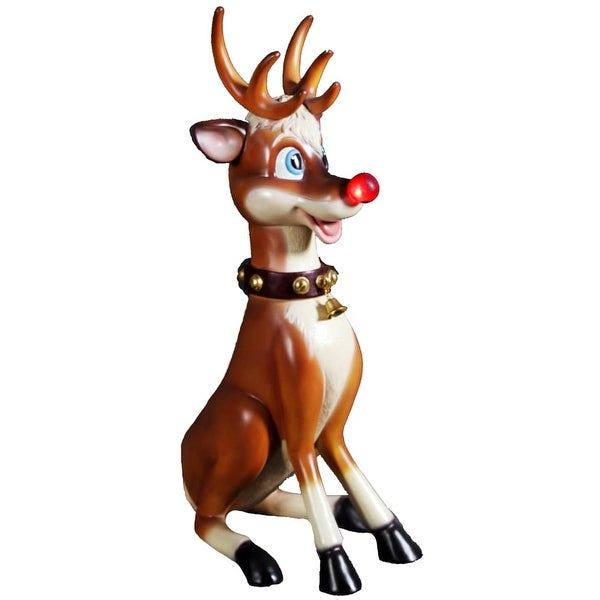 Christmas at Winterland WL-RUDOLPH-3.5 44.25 Inch Rudolph the Reindeer Figurine with Blinking Nose