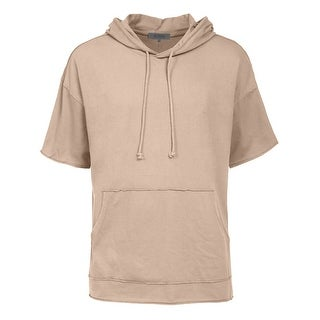 NE PEOPLE Mens Longline Hipster Hip Hop Hoodies Shirts [NEMT90] (Option: Khaki)