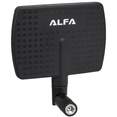 Alfa 2.4HGz 7dBi RP-SMA Panel Screw-On Swivel Antenna, For Use with various Alfa Devices
