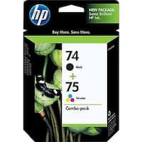 HP 74/75 Original Ink Cartridge Combo Pack - black