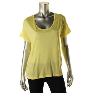 Zara W&B Collection Womens Slub Mesh Casual Top - S