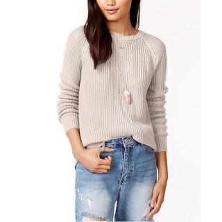 Bb Dakota Womens Cutout Knit Sweater