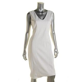Bailey 44 Womens Ponte V-Neck Wear to Work Dress