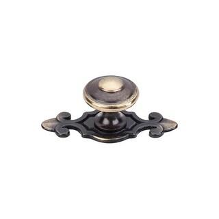 Top Knobs M28 Britannia 1-1/4 Inch Diameter Mushroom Cabinet Knob with Backplate