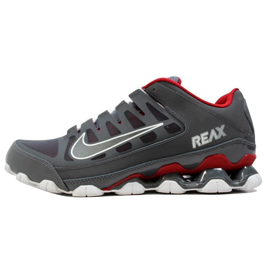 Shop Nike Men s Reax 8 TR Mesh Dark Grey Dark Grey-Gym Red 621716-013 -  Free Shipping Today - Overstock - 20139476 da1a7530e