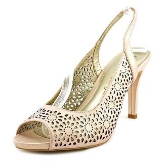 Anne Klein Odea Peep-Toe Leather Heels